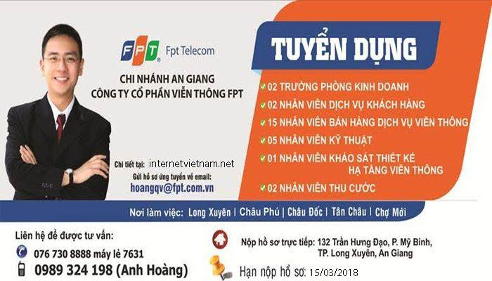fpt an giang tuyển dụng