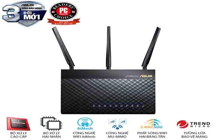 đinh tuyến wifi asus RT AC68U