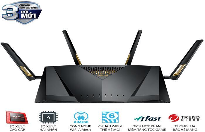 định tuyến wifi 6 băng tầng kép asus rt ax88u